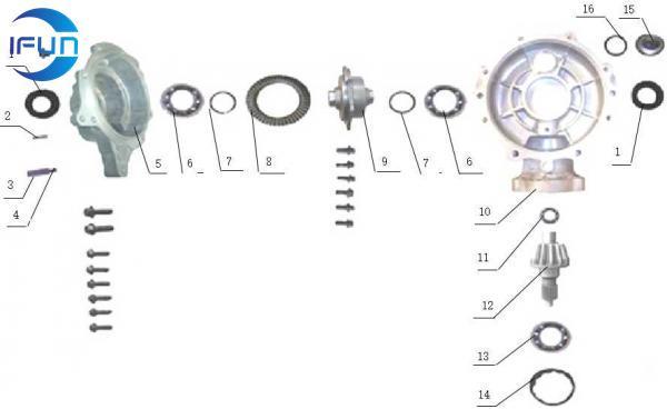 ODES 400CC ATV Front Drive Reducer,ODES atv parts,ODES utv