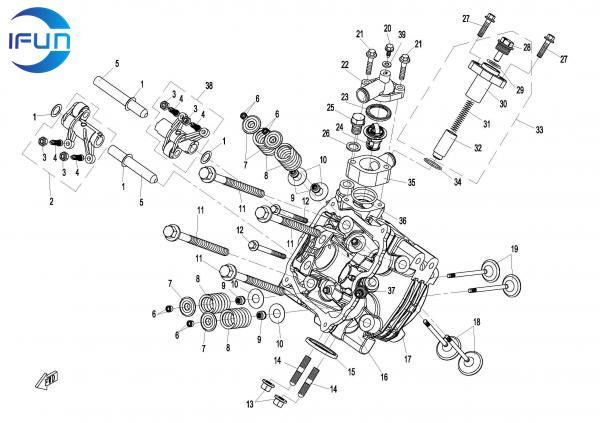 CFMOTO CFORCE800 X8 ATV CYLINDER HEAD NO.1 ASSY,CFMOTO