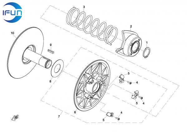 CFMOTO CFORCE800 X8 ATV DRIVE PULLEY(REAR),CFMOTO