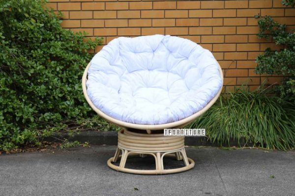 outdoor wicker chairs nz for church pod indoor day bed swirl rocking chair with cream picture of cushion
