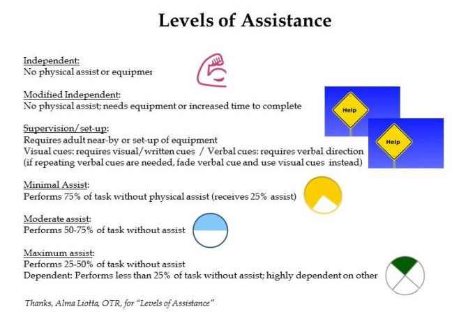 Levels of Assistance