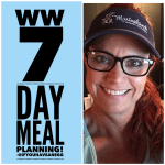 Weight Watchers 7 Day Meal Planning: Facebook Live Chat!