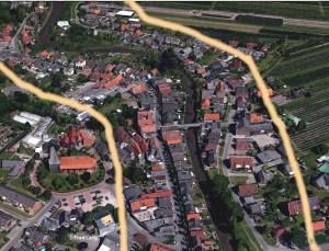 50-Meterzone in Estebrügge und Moorende