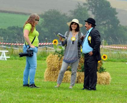 Drei Personen, drei Nationalitäten, eine Welsh-Schau Foto Amelie Heindl