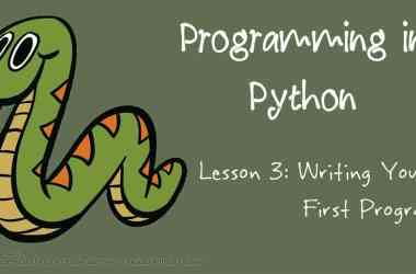 Programming in Python: Writing Your First Program - 9