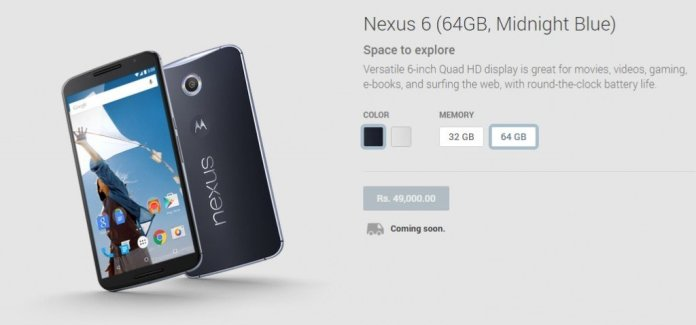 nexus 6 64gb india
