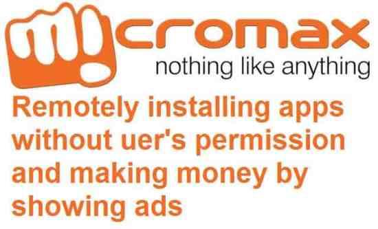 Micromax remotely installing blotwares without user's permission - 1