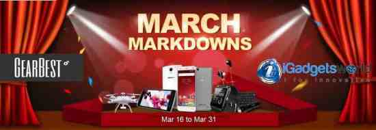 GearBest March Markdown deals 2015: Grab the best deals and win prizes - 1
