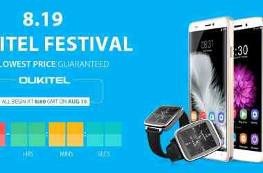 OukiTel Deals Festival: Flash sale on Smartphones & gears from August 19th - 3