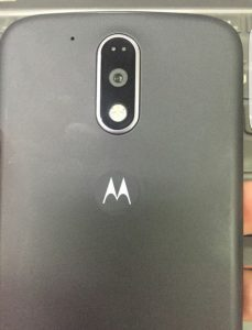 The back of Moto G4 looks much different from older phones from the Moto G lineup