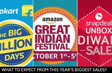 What to expect from Flipkart Big Billion Day 2016, Amazon Great Indian Festival Sale and Snapdeal Unbox Diwali Sale - 8