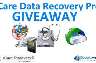 Giveaway: iCare Data Recovery Pro [Unlimited Winners] - 10