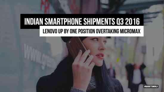 Indian Smartphone Shipments Q3 2016 | Micromax Down & Lenovo Up - 1