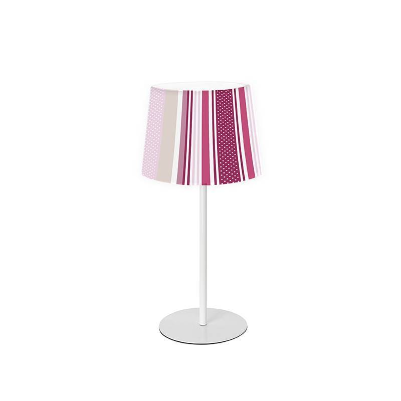 SULION Lines pink table lamp