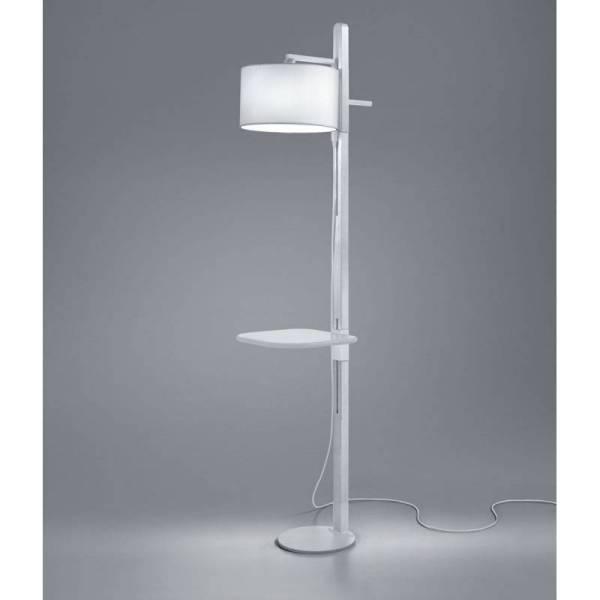 Brilliance Tray Floor Lamp 1l E27 White Wood