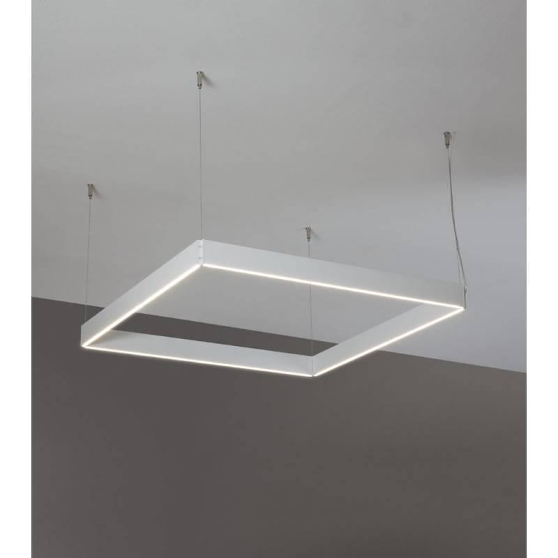 Lmpara colgante Manolo LED cuadrada blanco  Ole