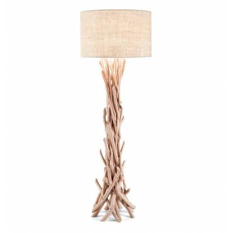 Lmpara de pie Driftwood 1L E27 madera natural  Ideal Lux