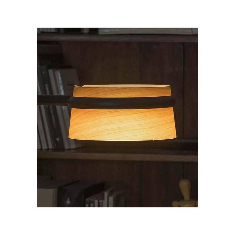 Lmpara de pie Loop LED 6w metal  madera  Faro