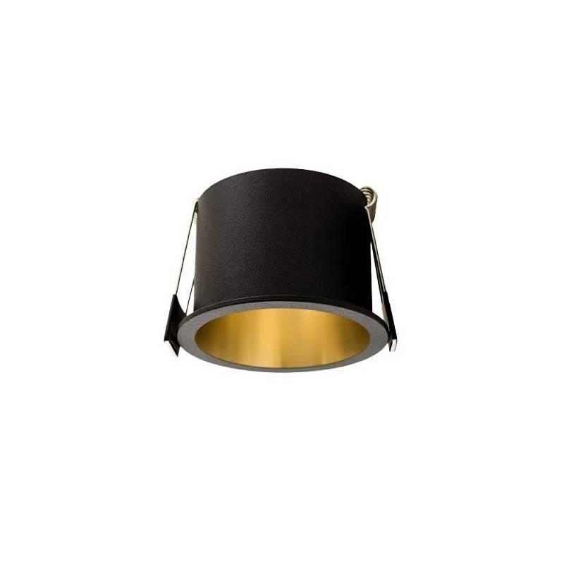 Foco empotrable Aurum GU10 negro  oro  Maslighting