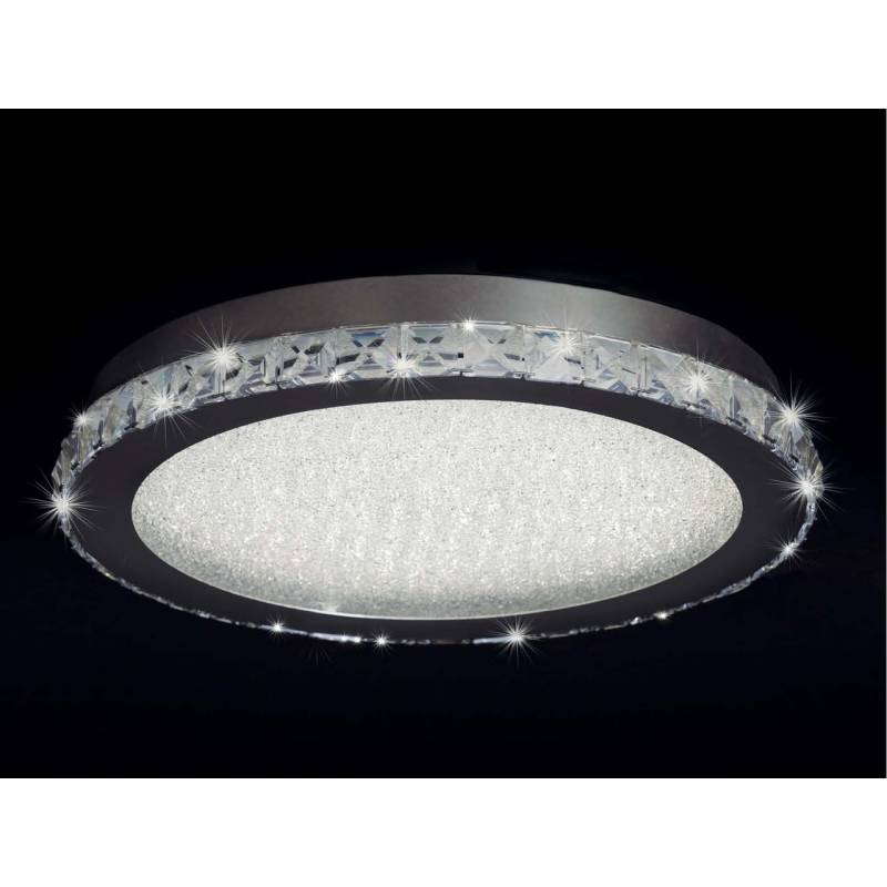 Plafn de techo Crystal LED 21w redondo  Mantra