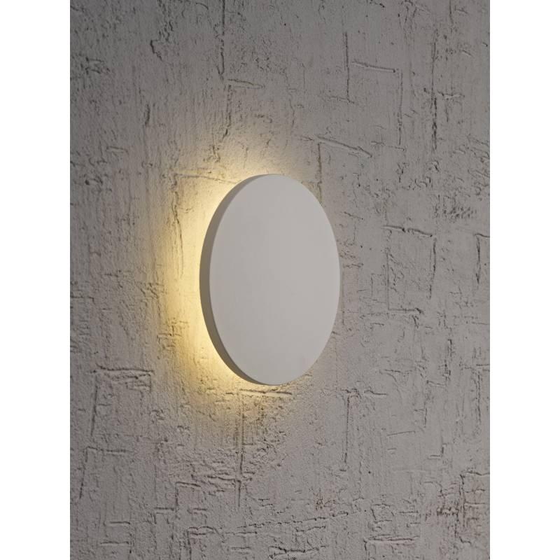 Aplique de pared Bora Bora LED redondo plata  Mantra