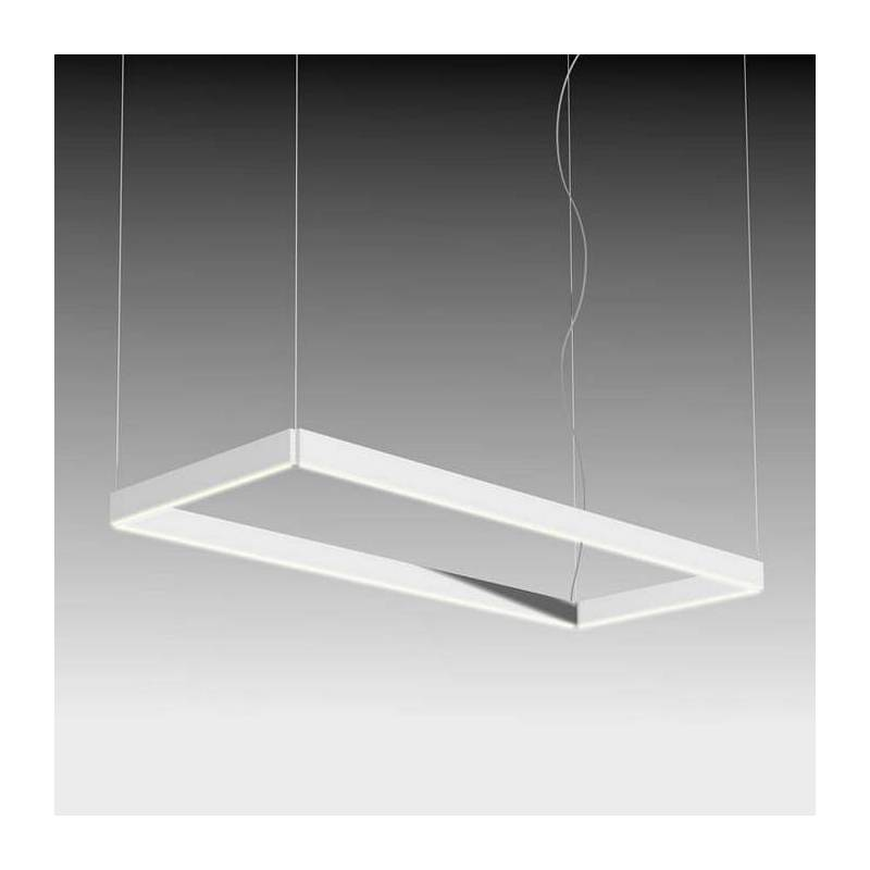 Lmpara colgante Manolo LED rectangular blanco  Ole