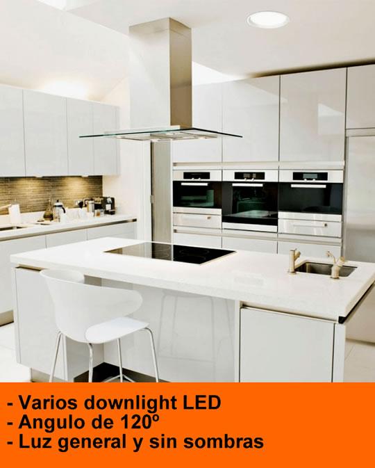 Luz Led Cocina Iluminacin Moderna W Llev La Lmpara De