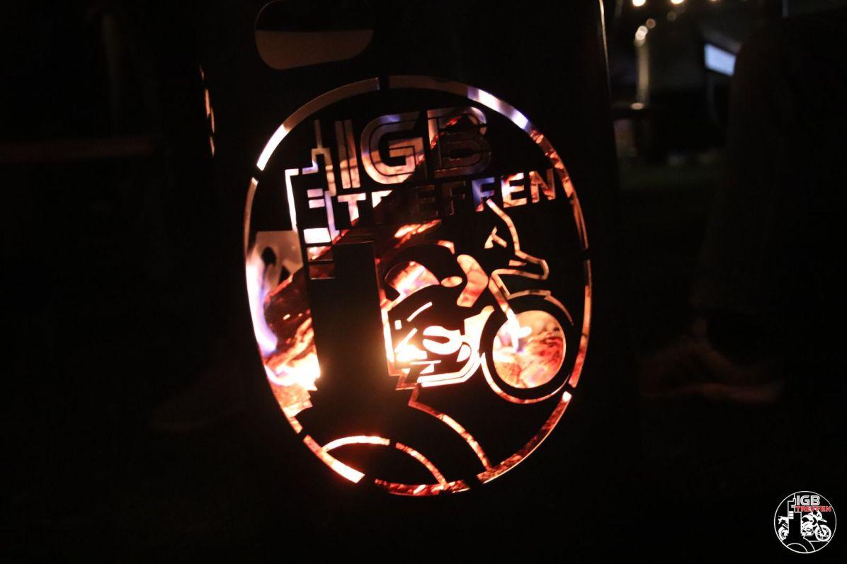 Unser Feuerkorb.