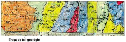 Traça del tall geològic