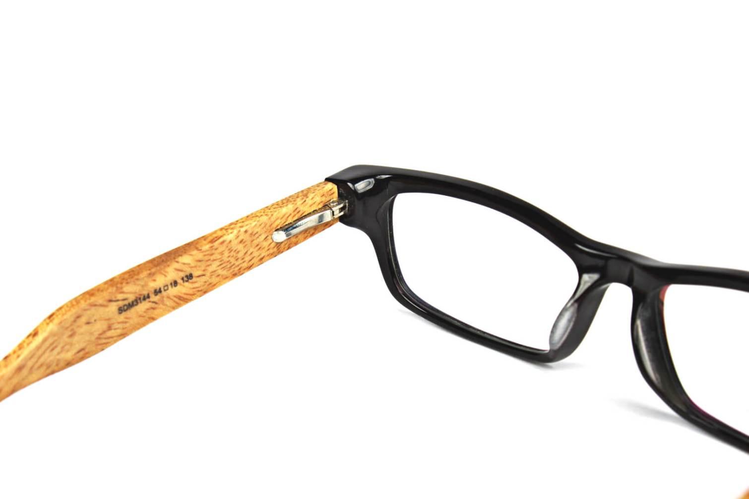 Rectangular Wooden Eyeglasses