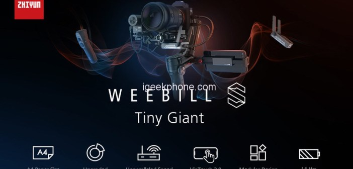 Grab the Zhiyun-Tech WEEBILL-S Handheld Gimbal Stabilizer For Just $439 at TOMTOP (80 Units)