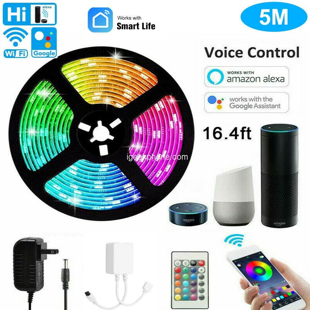 5m Wifi Rgb Led Light Strip Kit 3ch Smart Lights App Control In 13 29 Ebay Flash Sale Igeekphone China Phone Tablet Pc Vr Rc Drone News Reviews
