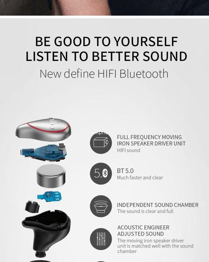 Mifo O5 Tws Earbuds Design