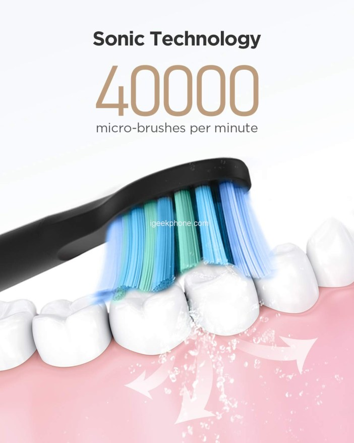 Electric Toothbrush Powerful Sonic Cleaning Design
