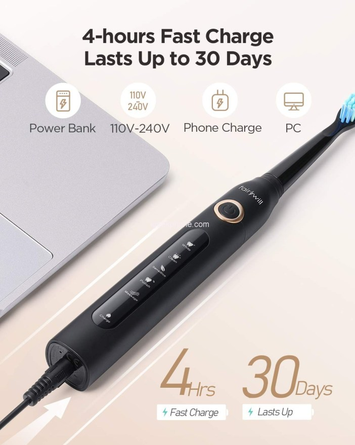 Electric Toothbrush Powerful Sonic Cleaning Features