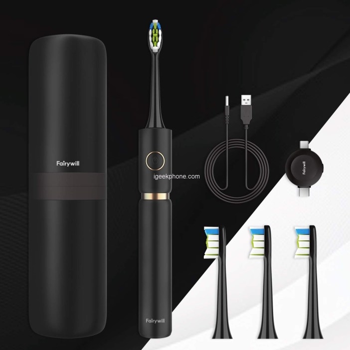 Fairywill Sonic Whitening Electric Toothbrush Features