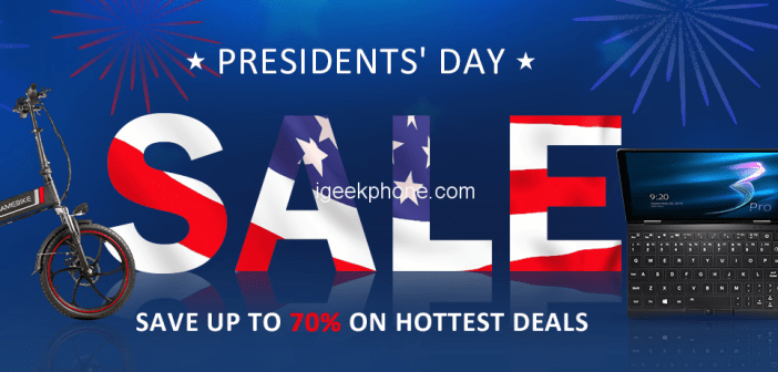 Get Up to 70% Off on Hottest Deals @Geekbuying President's Day Sale