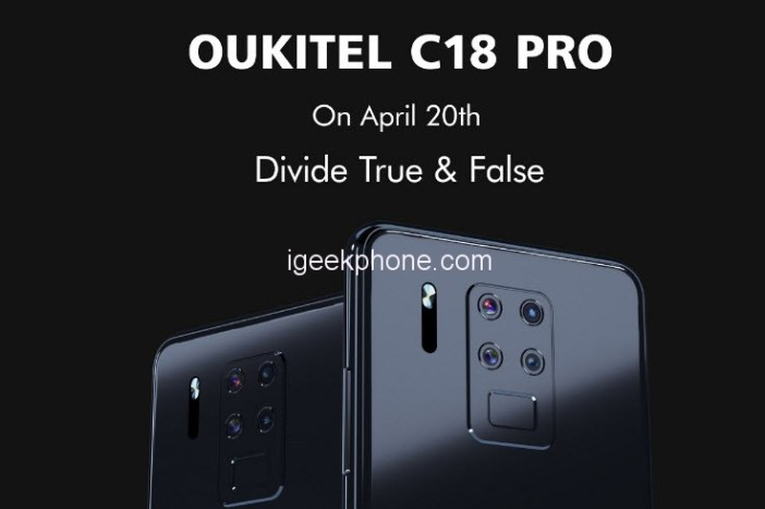 Oukitel C18 Pro Released On April 20