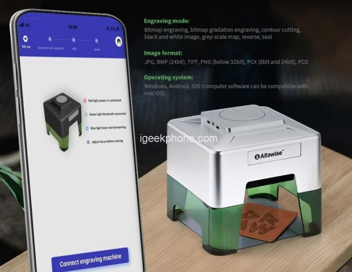 Alfawise C50 Mini Wireless Smart Laser Engraver