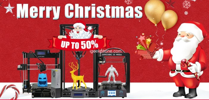 Anycubic 3D Printers Chirstmas Sale Offers Up To 50% OFF Discount