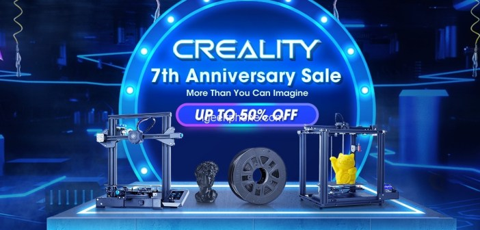Creality 7th Anniversary Sale Begins on TOMTOP with UP TO 50% OFF Discount