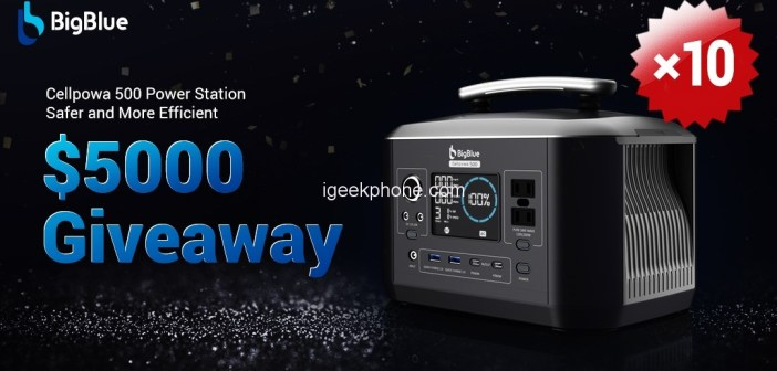 BigBlue Cellpowa500 537.6Wh Power Station Launched On Indiegogo