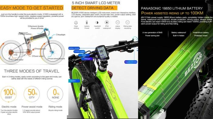 EZIOR X1000 Electric Bicycle