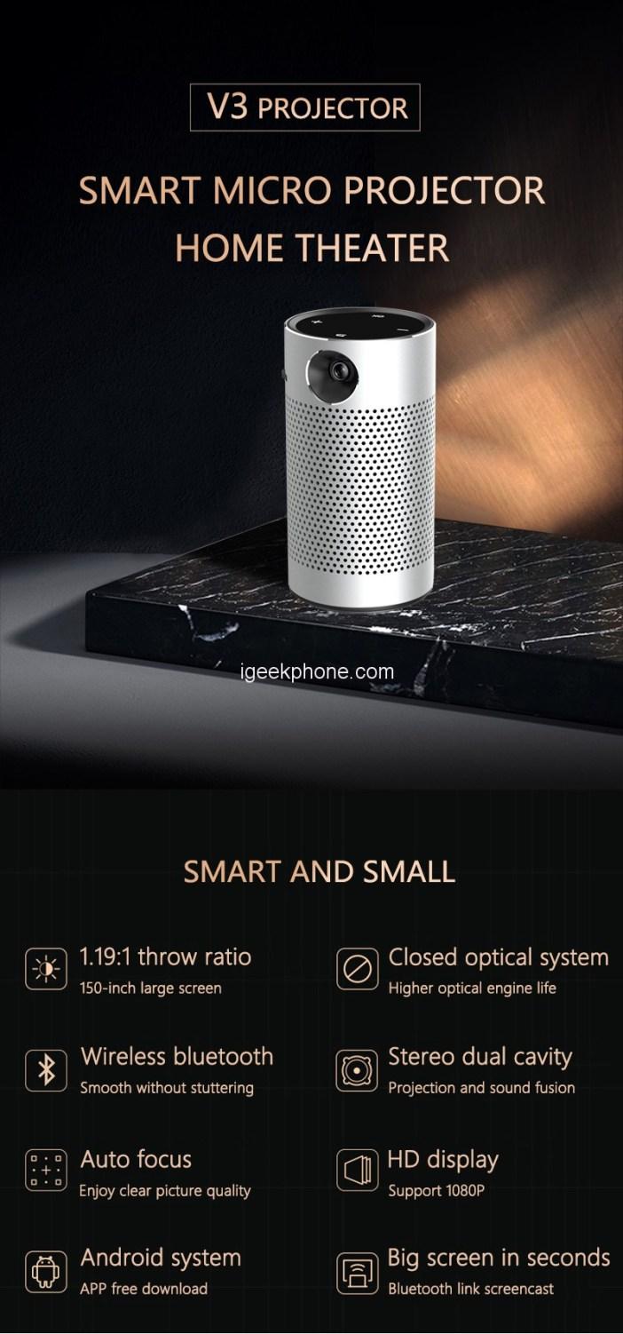 V3 Pro Smart Micro Projector