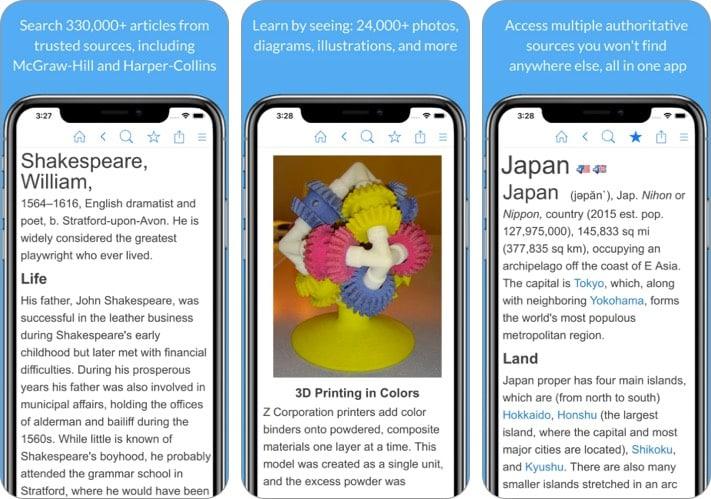 Энциклопедия Приложение для iPhone и iPad для изучения истории