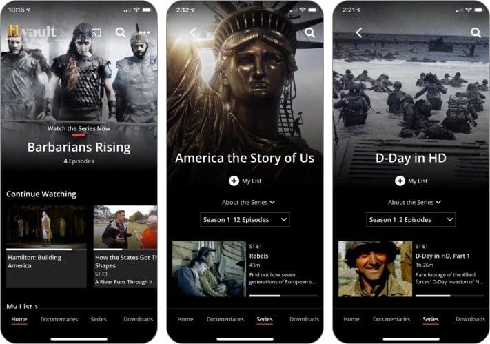 ИСТОРИЯ Приложение Vault для iPhone и iPad
