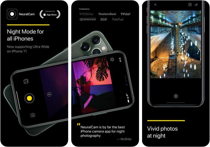 Приложение NeuralCam Camera для iPhone 11 Pro Max