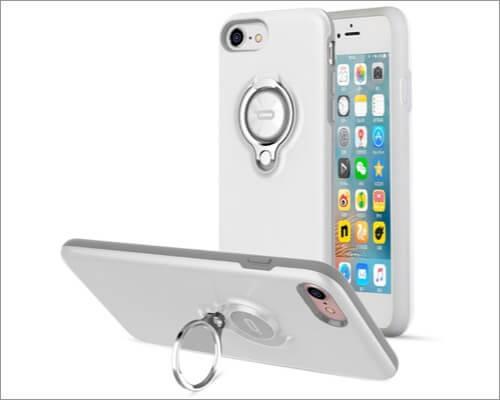 ICONFLANG Противоударный чехол-держатель с кольцом для iPhone SE 2020