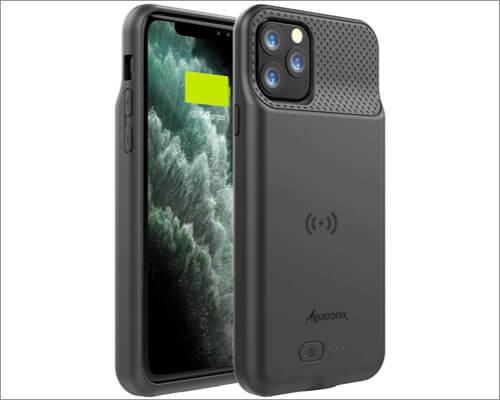 увеличенная крышка аккумулятора alpatronix для iphone 11 pro max