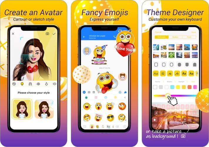 аватар клавиатура iphone и ipad скриншот приложения